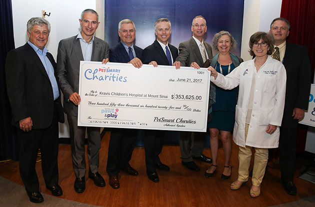 pet smart charities gives mount sinai check