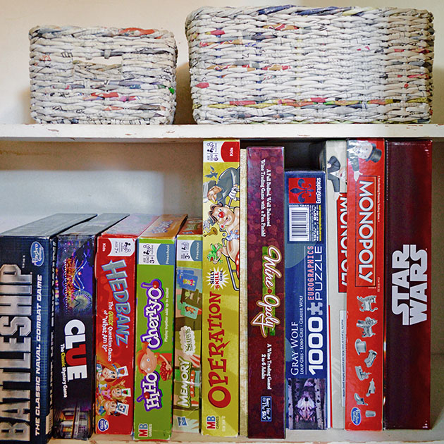 hack for organizing board games