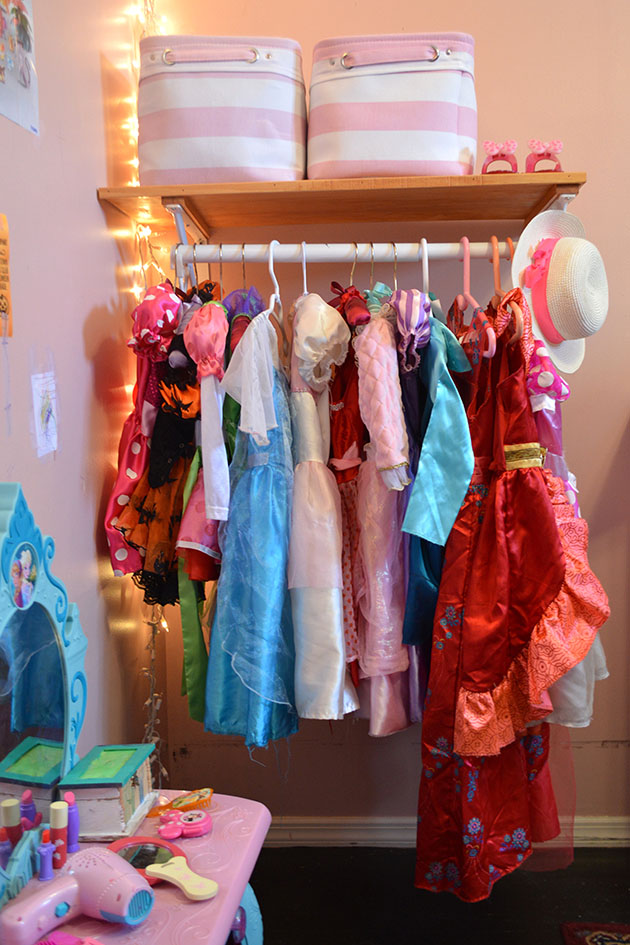 organizing dress-up clothes