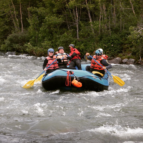 Whitewater rafting in the Yukon Territory of Canada