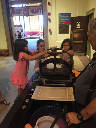 Making paper at the Franklin Institute