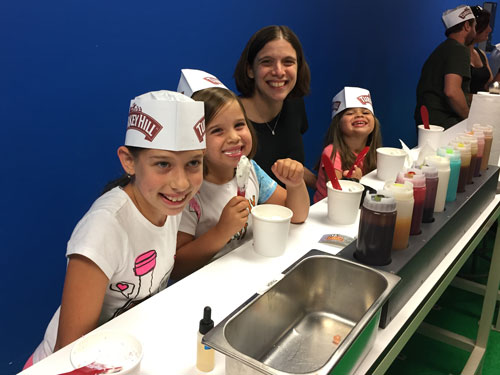 Making our own ice cream at the Turkey Hill Experience