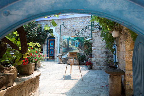 A typical scene in Safed