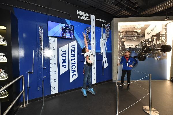 vertical jump nfl experience times square