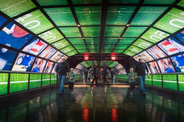 nfl experience times square tunnel