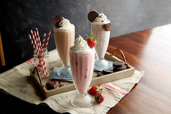 Bill's Bar Burger milkshakes