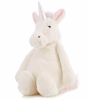 plush unicorn kidding around