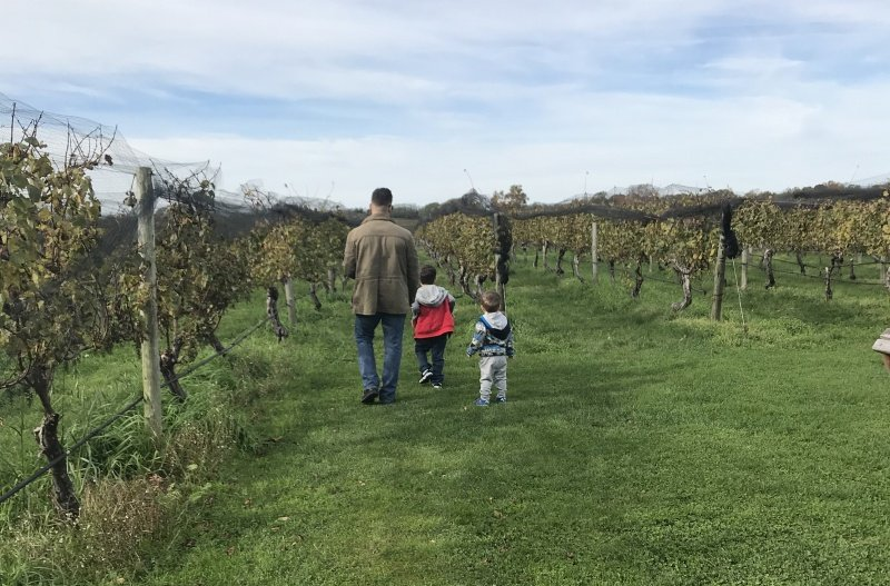 family at vineyard