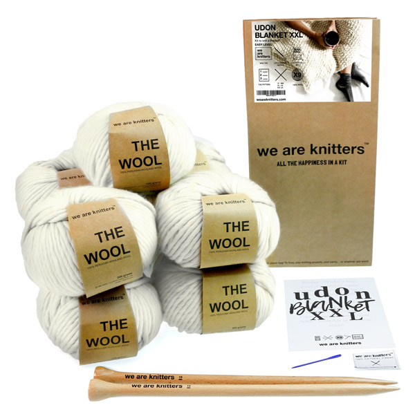 we are knitters udon xxl blanket kit