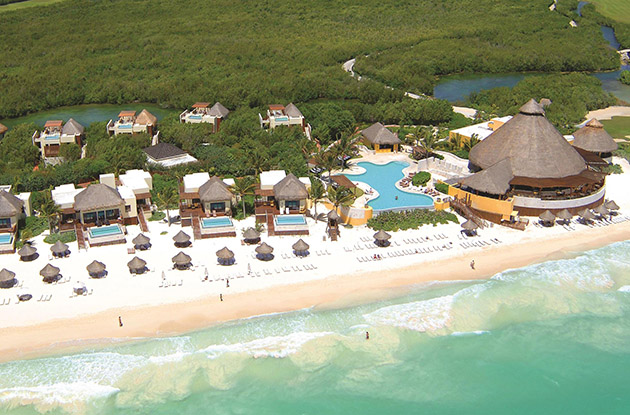aerial view of a beach resort