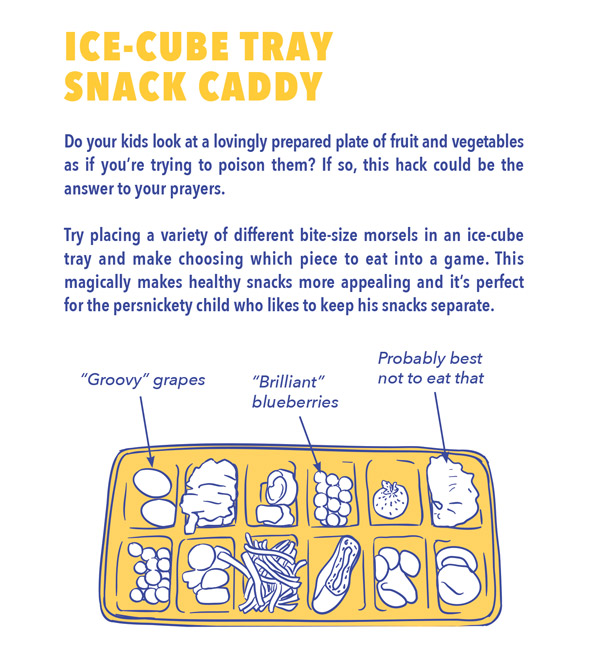 ice-cube tray snack caddy