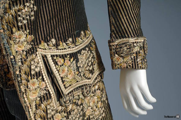Men's embroidered suit, France, 1785