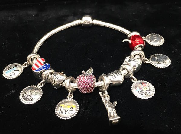 pandora charm bracelet new york city