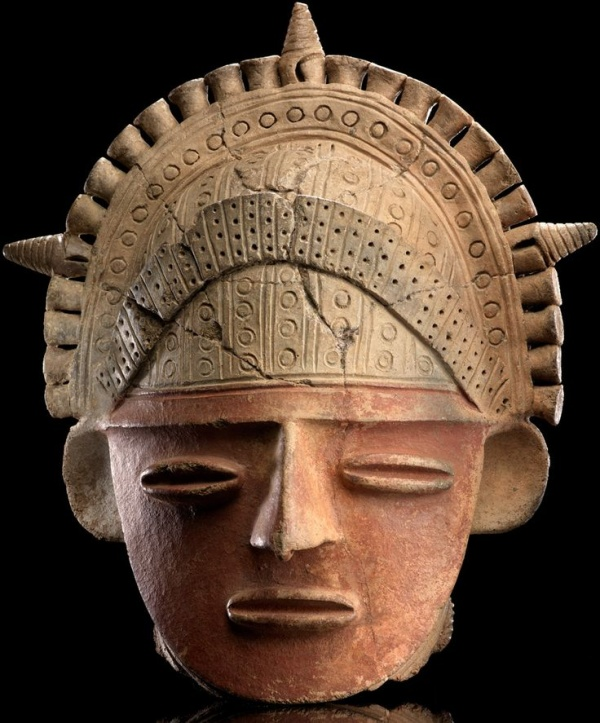 Muisca clay head, Colombia