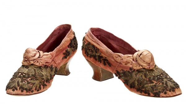 antique french boudoir shoes
