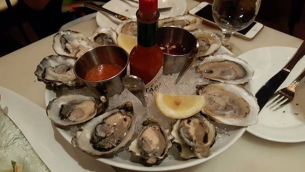 blue oysters