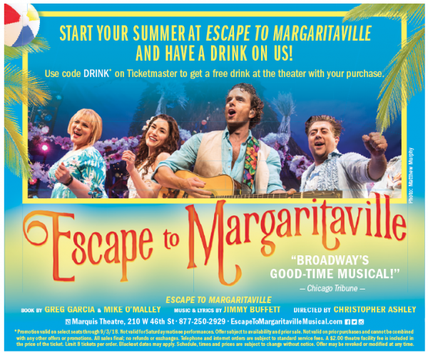 coupon code free drink escape to margaritaville