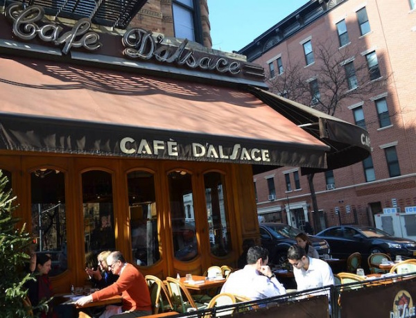 Cafe D Alsace Is A Bustling But Homey French Bistro With Sidewalk Patio Seating On Second Avenue Brunch Menu And Delectable Dinner Selections