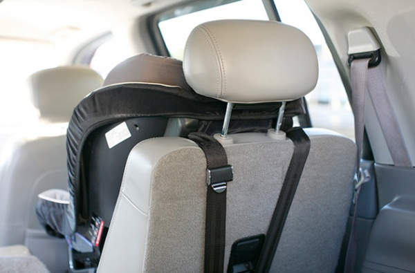 This Forward Facing Car Seat Is Properly And Securely Strapped In