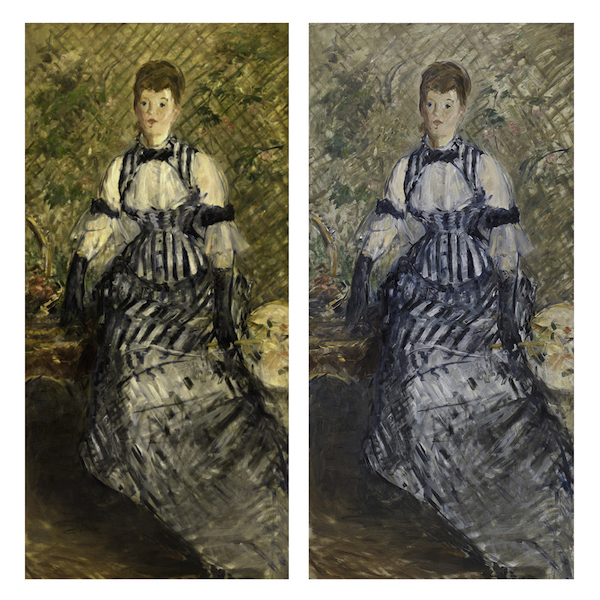 Woman in Striped Dress Edouard Manet