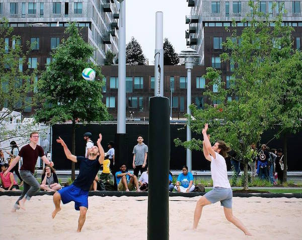 Domino Park Volleyball Court