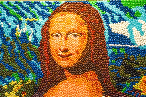 Mona Lisa at Candytopia