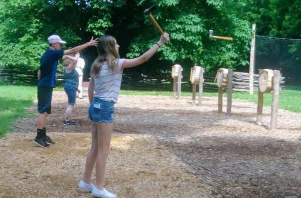 ax throwing at colonial williamsburg va