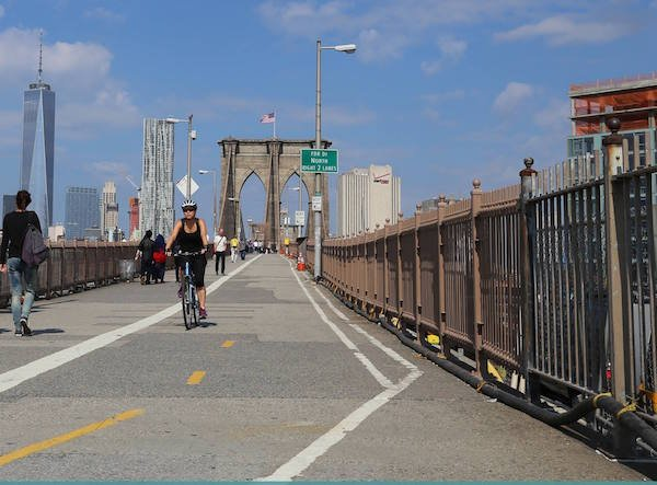 Brooklyn Bridge cycling