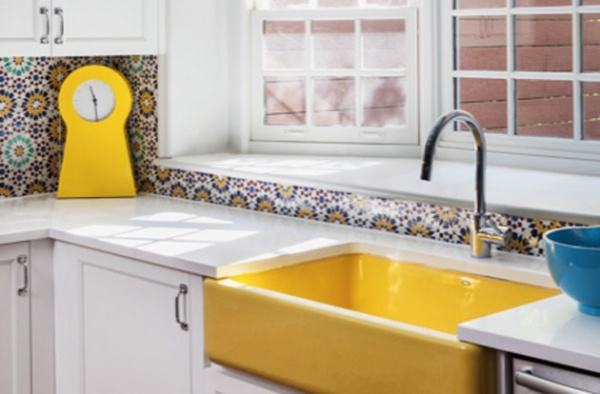 kitchen trend bright colors and fun backsplashes