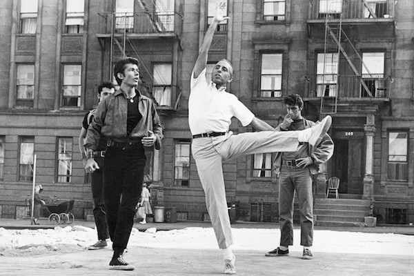Jerome Robbins works with the cast of West Side Story