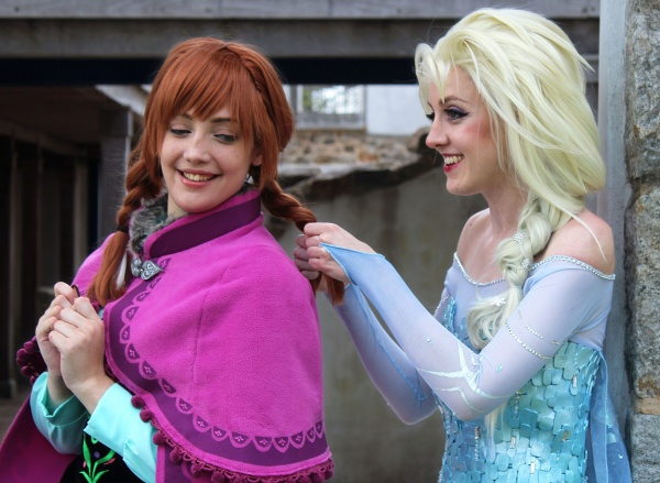 anna elsa frozen cosplay costume