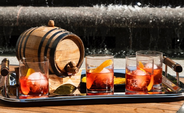 Barrel Aged Negroni at the Sea Grill