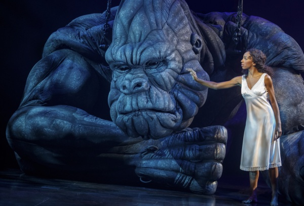 "kong Christiani Pitts as ""Ann Darrow"" and ""King Kong"" Photo by Joan Marcus"