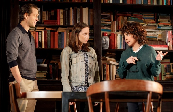 Hugh Nancy, Talene Monahon, and Stockard Channing in Roudabout Theatre Company's Apologia