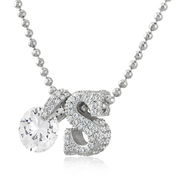 zaxie initial necklace