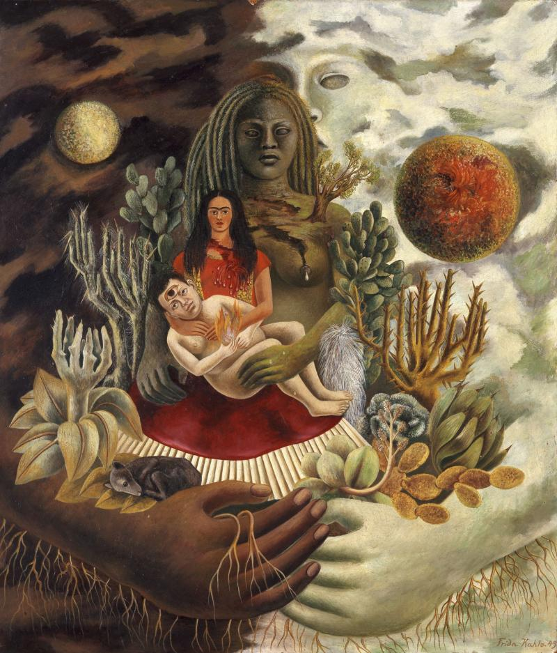 love embrace of the universe kahlo