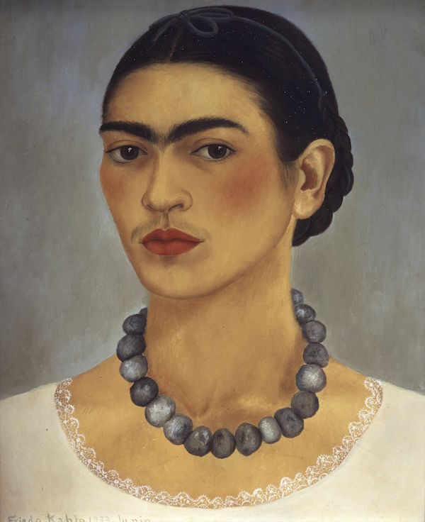 Frida Kahlo Self-Portrait with Necklace