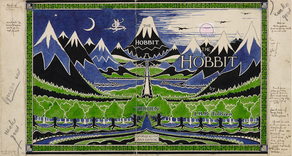 JRR Tolkien The Hobbit dustjacket