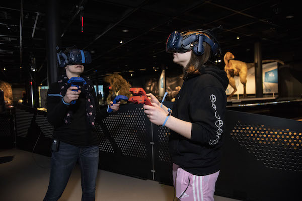 T Rex exhibit virtual reality American Museum of Natural History