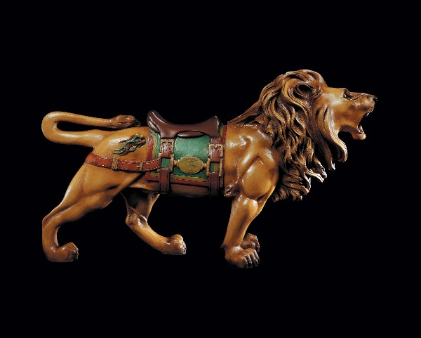 folk art carousel lion