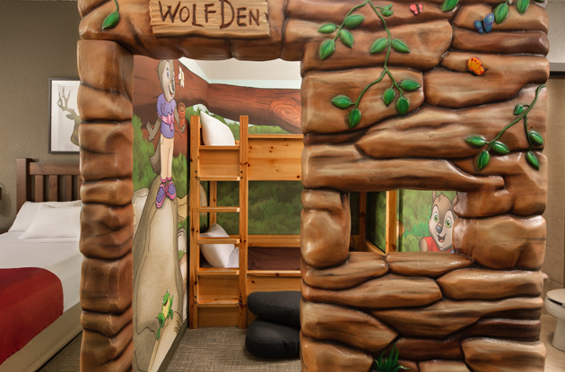 wolf's den suite at Great Wolf Lodge