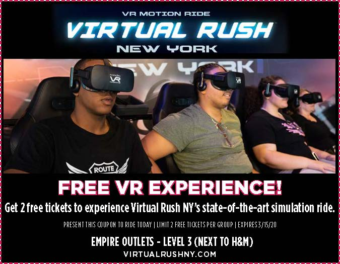 promo empire outlets vr free tickets