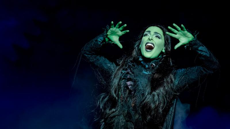 Hannah Corneau having a Wicked good time as Elphaba.