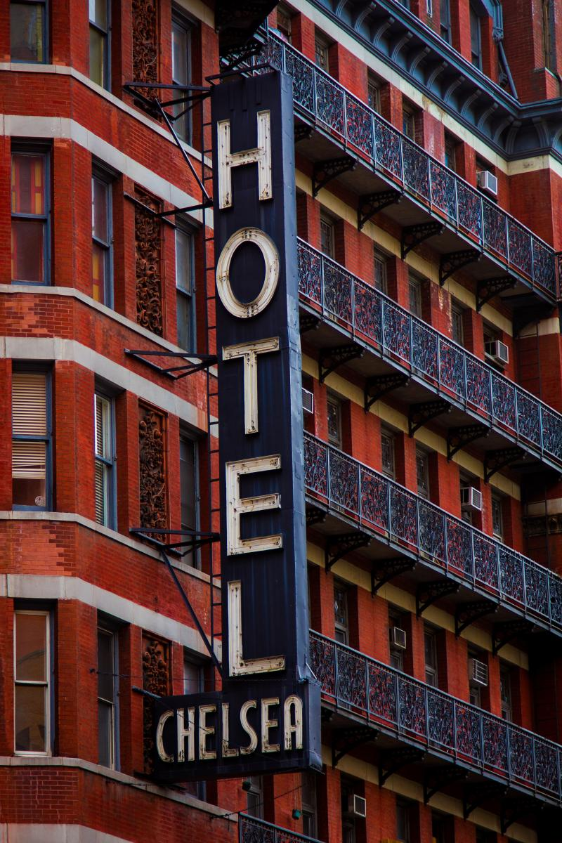 chelsea hotel sign