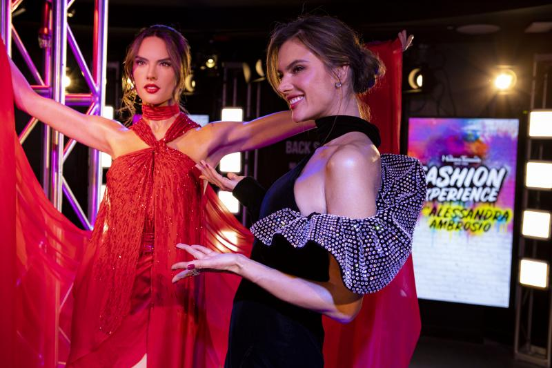 Alessandra Ambrosio Wax figure with the model herself