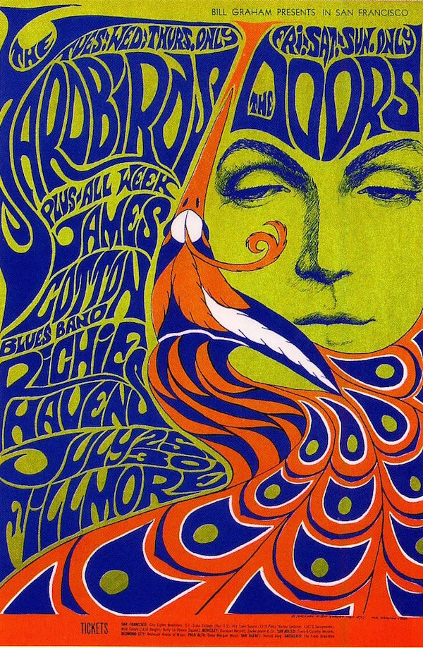 Bill Graham Presents in San Francisco Wes Wilson Yardbirds Doors