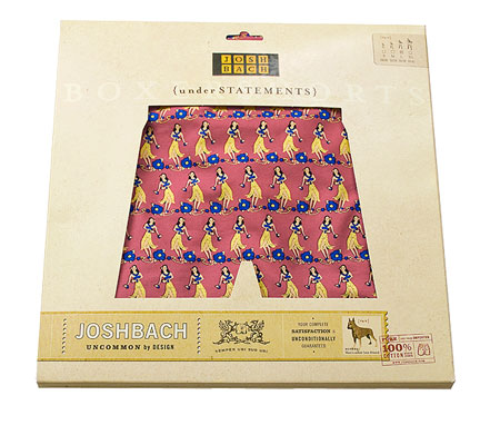 Hula girls boxer shorts from Josh Bach