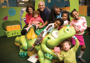 Alphie the Dragon at the Children's Museum of Manhattan