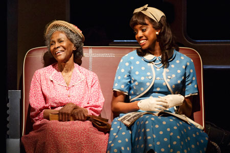 Cicely Tyson and Condola Rashad in The Trip to Bountiful on Broadway