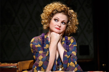 Faith Prince as Miss Hannigan in Annie on Broadway
